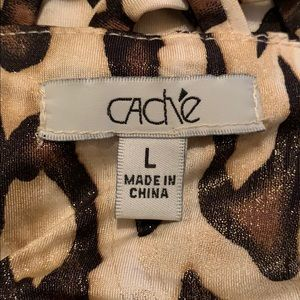 Cache Tops - Cache women's animal print halter style top